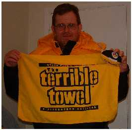 Tim in Steelers Coat