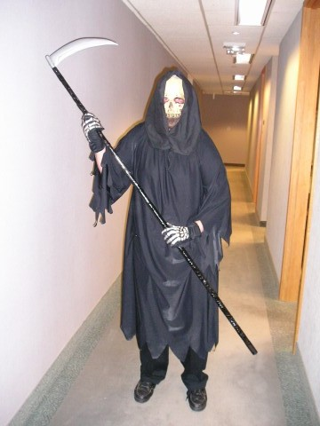 Tim as the Grim Reaper