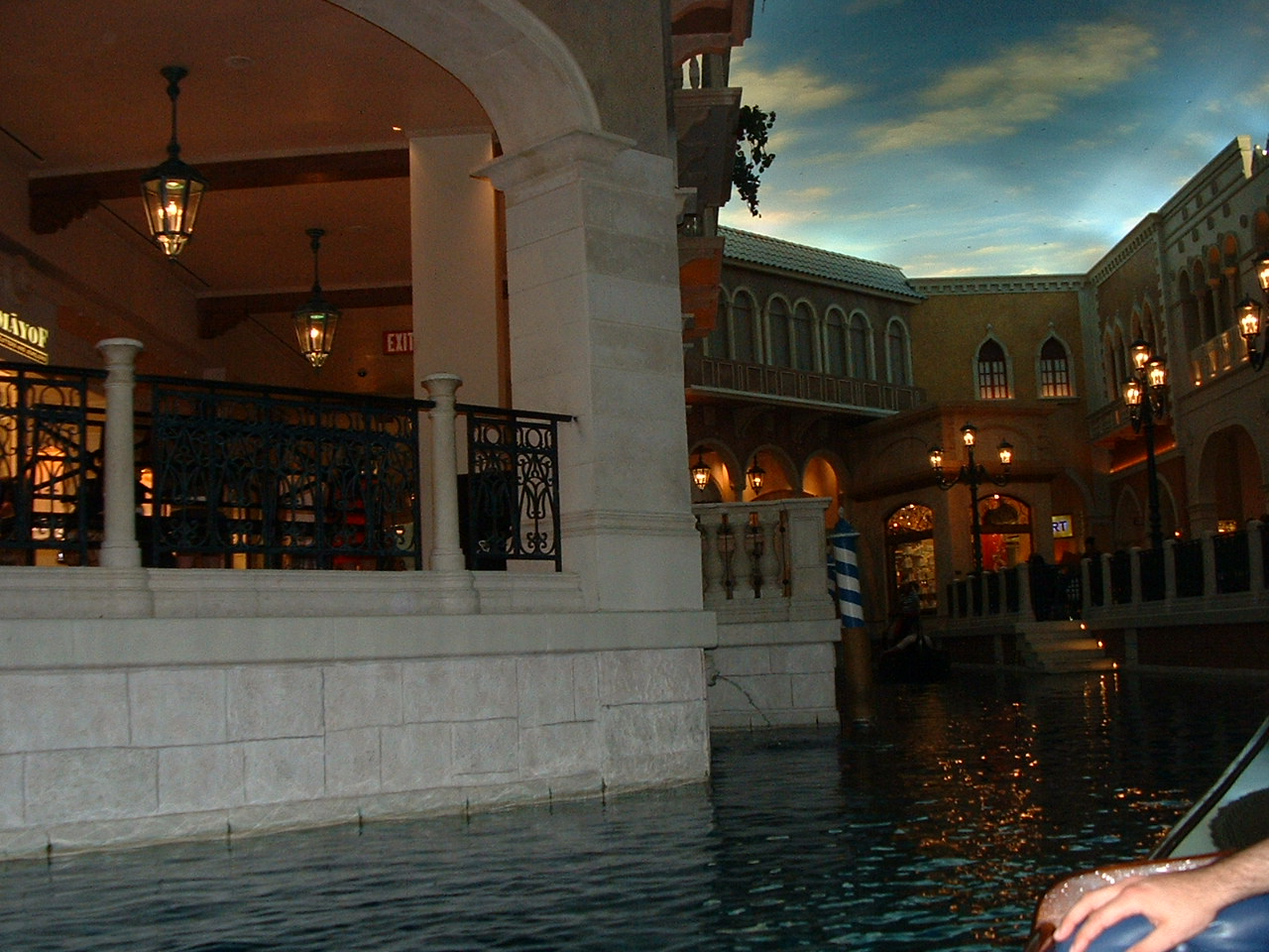 The canals at the Venetian